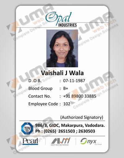 Company Identity Cards Design Jamnagar Gujarat India